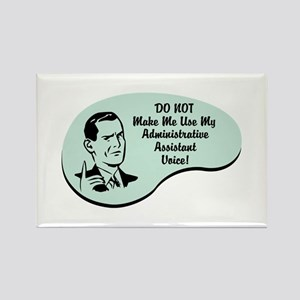 Administrative Assistant Voice Rectangle Magnet