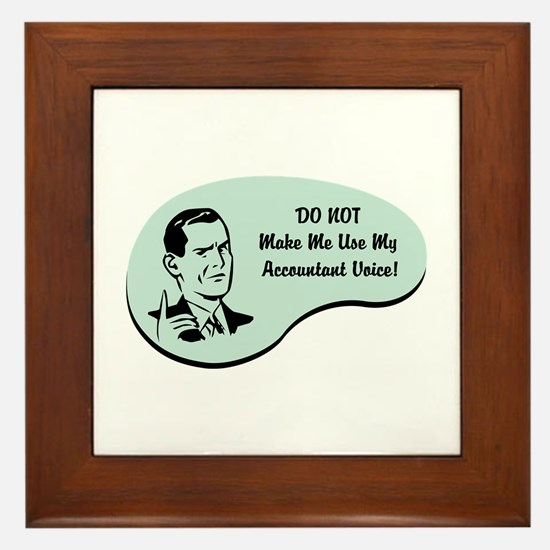Accountant Voice Framed Tile