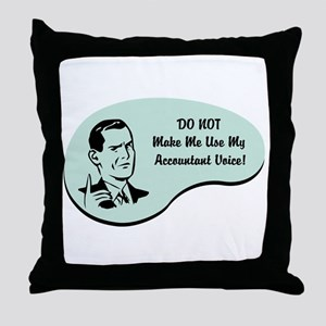 Accountant Voice Throw Pillow