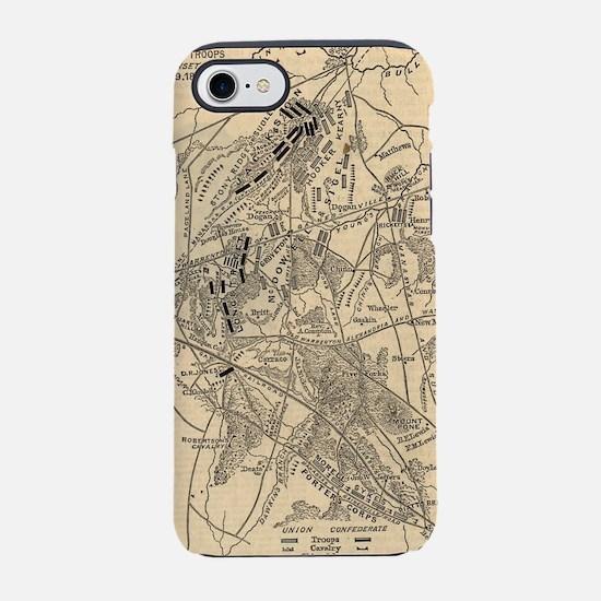 Vintage Battle of Bull Run Map iPhone 7 Tough Case