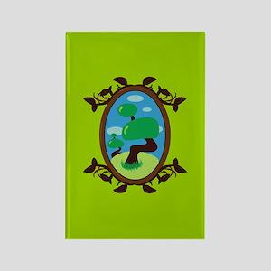 Zen Bonsai Tree Rectangle Magnet