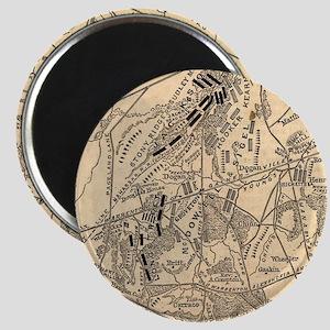 Vintage Battle of Bull Run Map (1886) Magnets