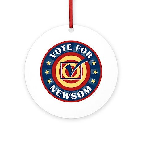 Vote for Gavin Newsom Ornament (Round)