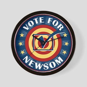 Vote for Gavin Newsom Wall Clock