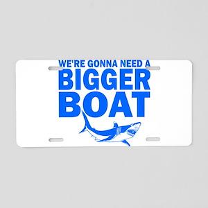 BiggerBoatJaws Aluminum License Plate