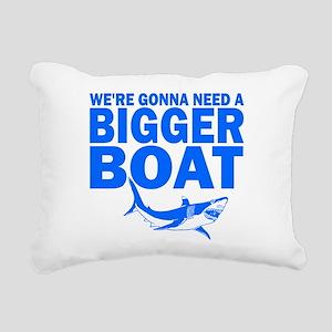 BiggerBoatJaws Rectangular Canvas Pillow