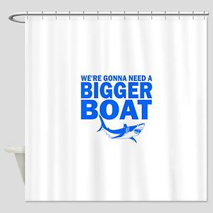BiggerBoatJaws Shower Curtain