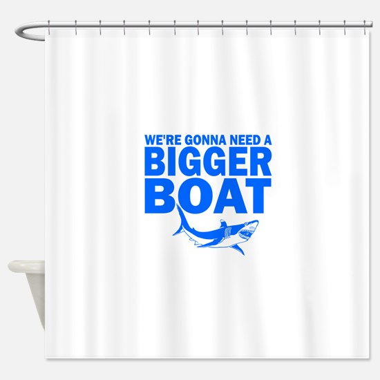 BiggerBoatJaws.png Shower Curtain