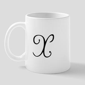 Initial X Mug