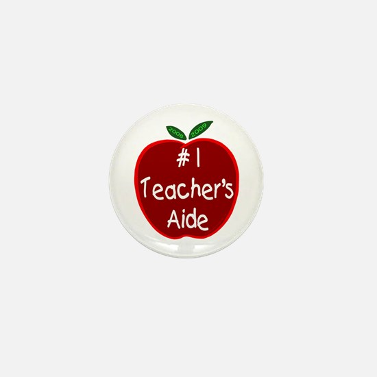 Apple for Teacher's Aide Mini Button