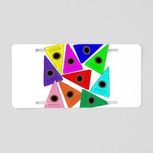 Rainbow Psaltery Aluminum License Plate