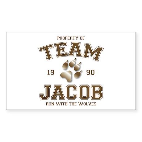 Twilight Team Jacob Rectangle Sticker