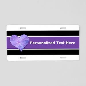 Purple Heart with Custom Te Aluminum License Plate