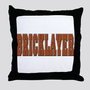 Bricklayer Throw Pillow