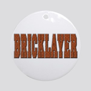 Bricklayer Ornament (Round)