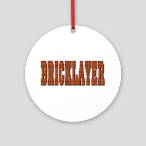 Bricklayer Ornament (Round)