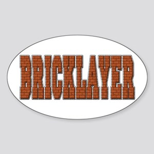 Bricklayer Oval Sticker