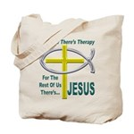 Jesus Therapy Tote Bag