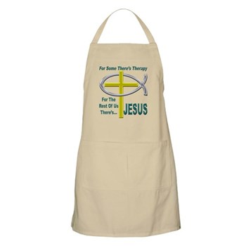 Jesus Therapy BBQ Apron