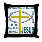 Jesus Therapy Throw Pillow
