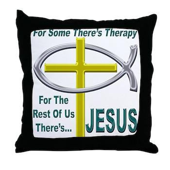 Jesus Therapy Throw Pillow
