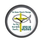 Jesus Therapy Wall Clock