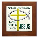 Jesus Therapy Framed Tile