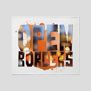 Open Borders Throw Blanket