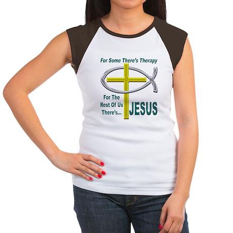 Jesus Therapy Women's Cap Sleeve T-Shirt