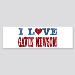I Love Gavin Newsom Bumper Sticker