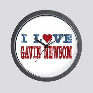 I Love Gavin Newsom Wall Clock