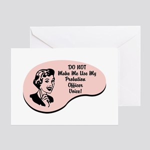 Probation Officer Voice Greeting Card