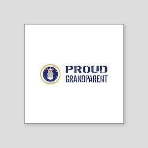 """USAF: Proud Grandparent Square Sticker 3"""" x 3"""""""
