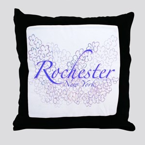 Rochester Lilacs Throw Pillow