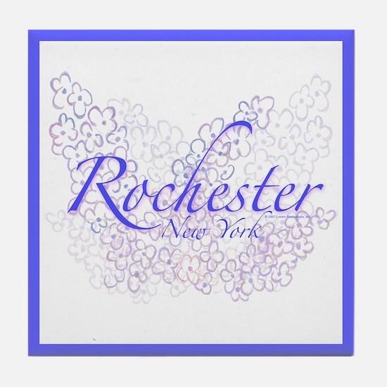 Rochester Lilacs Tile Coaster