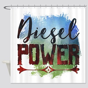Diesel Power Shower Curtain