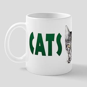 Penciled Tabby Cats Rule Mug