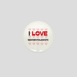 I LOVE SEDIMENTOLOGISTS Mini Button