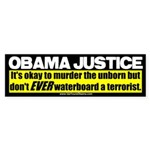 Obama Justice Bumper Sticker (10 pk)