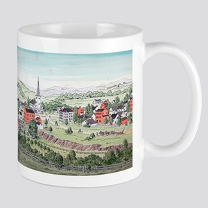 19th C. View of Morristown, N Mug