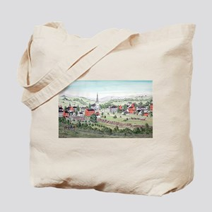 19th C. View of Morristown, N Tote Bag
