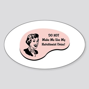 Nutritionist Voice Oval Sticker