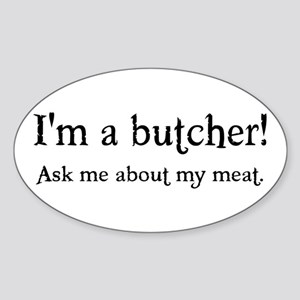 Butcher Oval Sticker