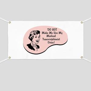 Medical Transcriptionist Voice Banner
