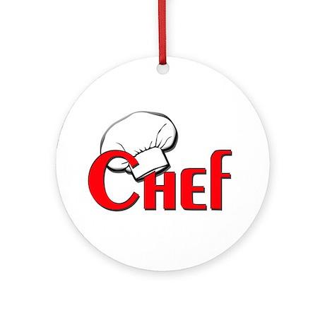 Chef Ornament (Round)