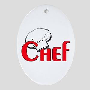 Chef Oval Ornament