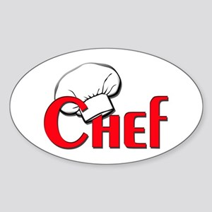 Chef Oval Sticker