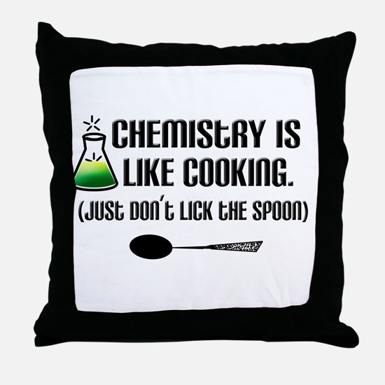 Chemistry Cooking Throw Pillow