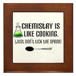 Chemistry Cooking Framed Tile