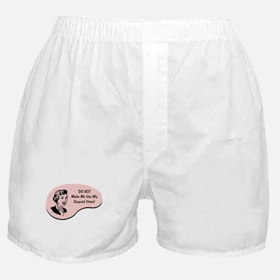 Linguist Voice Boxer Shorts